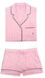 Juego de pijama de sat¡n (Short y manga corta)