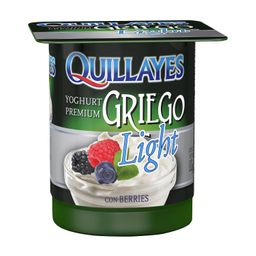 4 x Yogurt Griego Light Berries Quillayes 110 G
