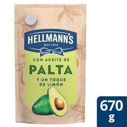 Hellmanns Aderezo Tipo Mayonesa con Aceite de Palta Doypack 670g
