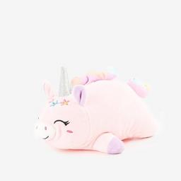 Peluche tamaño mediano con forma de unicornio con corona
