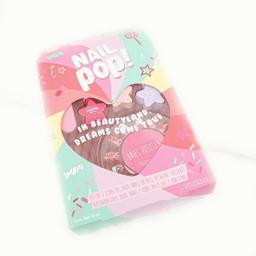 Set infantil Nail pop de 3 esmaltes, uñas y lima
