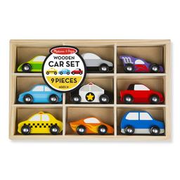 Set Autos De Madera