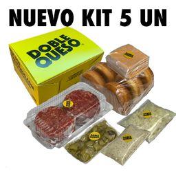 Kit de 5 Hamburguesas para preparar en casa