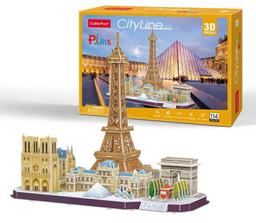 Cubicfun 3D Puzzle Cityline Paris 114 Piezas