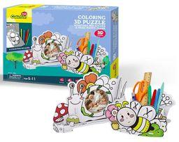 Cubicfun 3D Puzzle Coloring Honeybee & Snail P694H