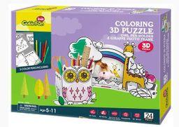 Cubicfun 3D Puzzle Coloring Owl & Giraffe P695H