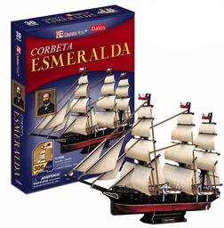 Cubicfun 3D Puzzle Corbeta Esmeralda 306 Piezas