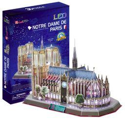 Cubicfun 3D Puzzle Led Notre Dame De Paris 149 Pieces L173H