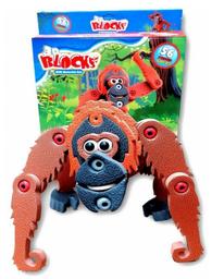 3D Blocks Goma Eva Figura Orangután 56 Piezas