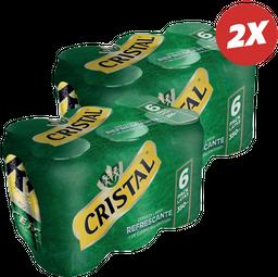 Promo: 2x Six Pack Cristal 350cc