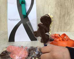 Paleta chocolate dinosaurio Nicole&Cédric