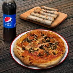 Pizza Mediana, Appetizer y Bebida 1.5L