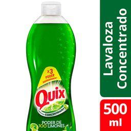Lavavajillas Quix Poder Desengrasante Limón 500 mL