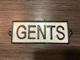 Letrero Fierro Fundido Gents - Generico