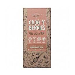 Barra Choc Cajú Y Berries Sabores Sc 80g