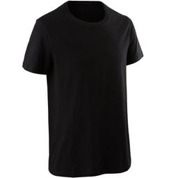 Camiseta Sportee 100 regular 100% algodón negro hombre