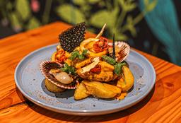 Filete de Lomo en Salsa Mariscos