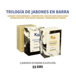 TRILOGÍA DE JABONES KÓ 55 GRS