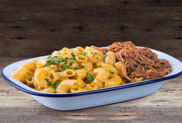 Macaroni Cheese con Pulled Pork