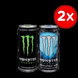 Promo: 2x Bebida Energetica Monster 473cc Variedades
