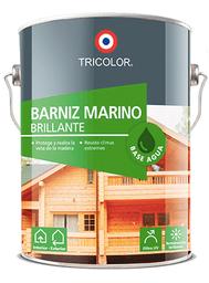 Tricolor Barniz Marino Base Agua 1/4 gl Color Roble