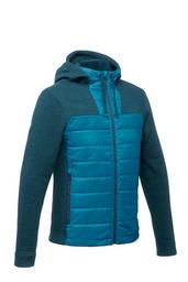 Sweater de senderismo naturaleza hombre Hybrid azul turquesa