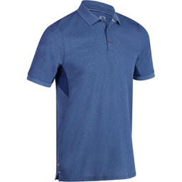 Polera Polo de golf hombre manga corta clima caluroso azul