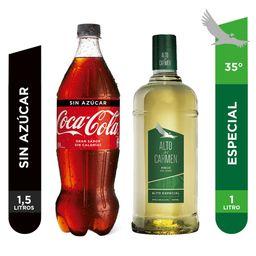 Promo: Pisco Alto del Carmen 1L + Coca Cola 1.5L.