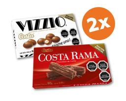 Promo: 2x Chocolate Costa Rama y/o Chocolate Vizzio