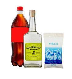 Pack Pisco Gobernador 40° + Bebida + Hielo