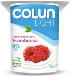 4 x Yogurt Colun Light Frambuesa Pote 125g