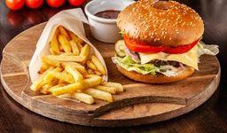 Burger Italiana con Papas Fritas