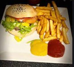 Burger Chacarera con Papas Fritas