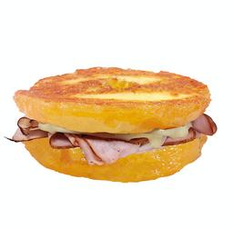 Donut Sándwich Hot Jamón y Queso