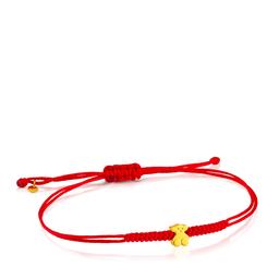 Tous Pulsera Sweet Dolls de Oro Con Nylon Rojo (414831000)