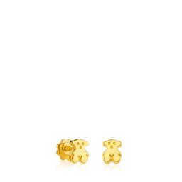 Tous Pendientes Puppies de Oro Amarillo