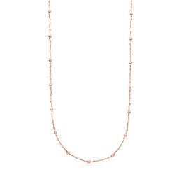 Collar Chain Plata Vermeil Rosa c/ Bolas Intercalada (811902590)