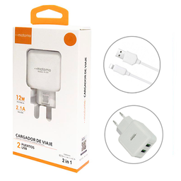 Motomo Cargador mas Cable Iphone