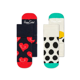 Happy Socks Pack de Calcetines Smiley Heart Terry 0 - 6M