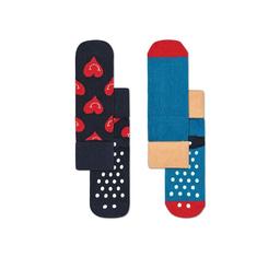 Happy Socks Pack de Calcetines Smiley Heart AntiSlip 2 - 3Y
