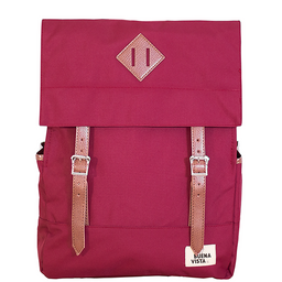 Buenavista Mochila Para Laptop Square L Burdeos Waterproof