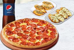 Promoción Pizza Familiar + Bebida 1,5L+ Complemento