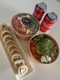 Combo Gohan M 10 piezas tempura mas 2 bebidas