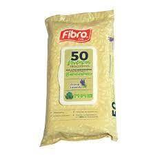 Fibro Toallitas Wipes Pouch Lavanda 50 un,
