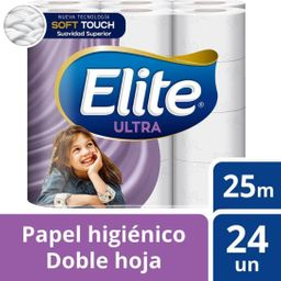 Papel Higienico Ultra Doble Hoja 25 Metros 24 Un