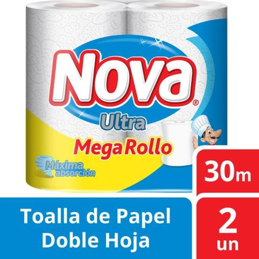 Nova Toalla De Papel Ultra Megarollo 32 Metros 2 Un