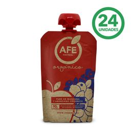Pure AFE Manzana - Arandano Organico Caja 90g 24Un