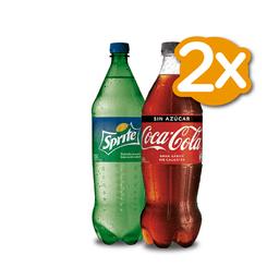 Promo 2x Bebidas Coca Cola 1,5 L