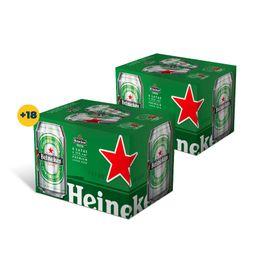 Promo:2x Six pack Heineken lata 350cc