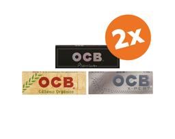 Promo 2X Papel De Tabaco Ocb 1 1/4 Variedades